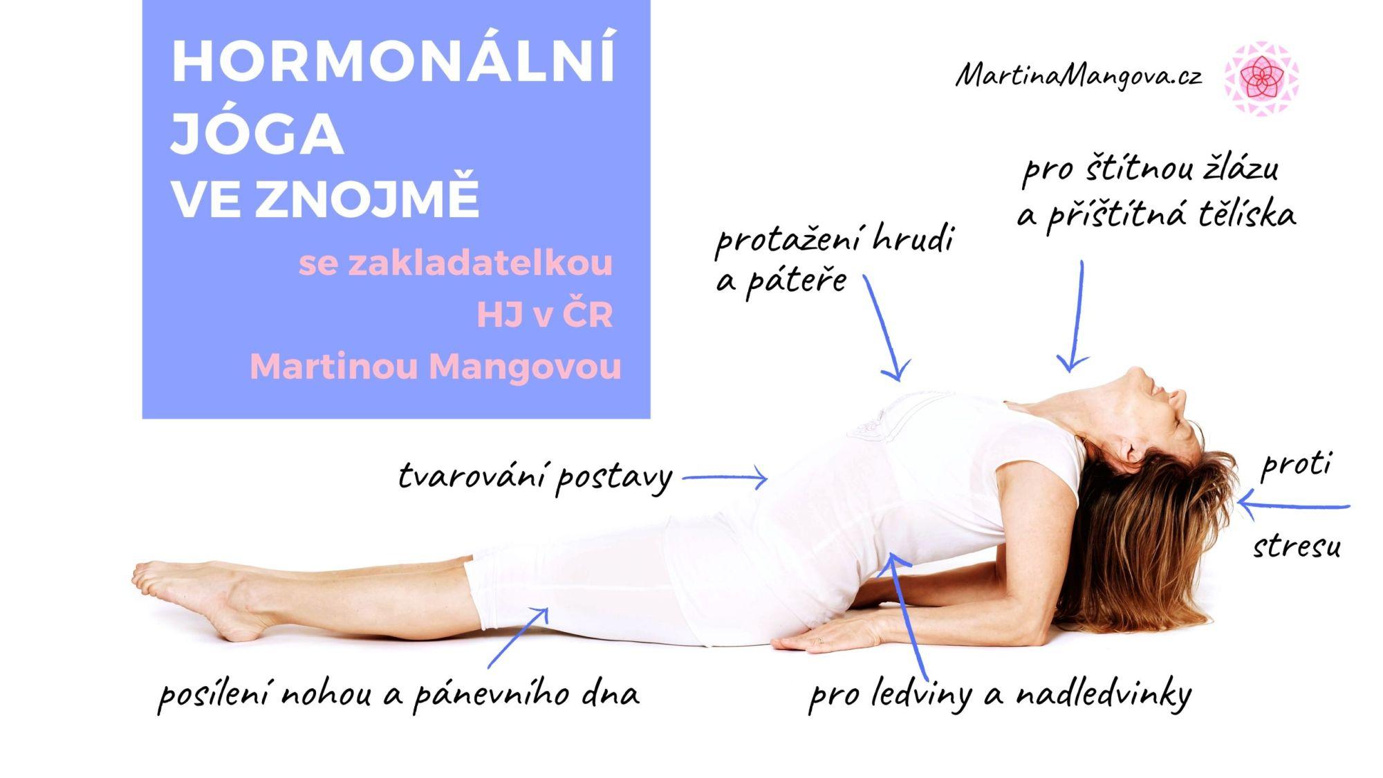 Vylaďte se Hormonální jógou Metoda MM 4týdenní Znojmo